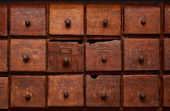 Wooden cabinet with drawers Royalty Free Stock Photo