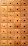 Wooden cabinet with drawers Royalty Free Stock Photos