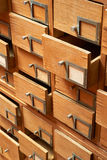 Wooden cabinet with drawers Stock Photos