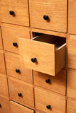Wooden cabinet with drawers Stock Photography
