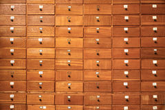 Wooden cabinet with drawers Stock Image