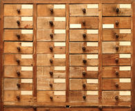 Wooden cabinet with drawers Royalty Free Stock Image