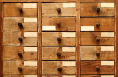 Wooden cabinet with drawers Royalty Free Stock Photography