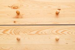Wooden cabinet drawers Stock Image