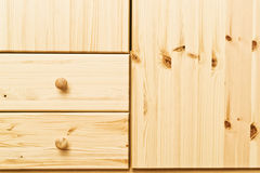 Wooden cabinet drawers Royalty Free Stock Photo