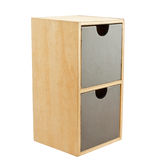 Wooden cabinet with 2 drawers Royalty Free Stock Photos