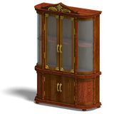 Wooden cabinet with glass of Louis XV. Stock Image