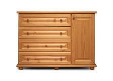 Wooden cabinet isolated on background Royalty Free Stock Image