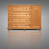Wooden cabinet isolated on background Stock Photo