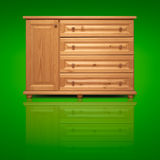 Wooden cabinet isolated on background Royalty Free Stock Photo