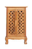 Wooden cabinet isolated Stock Images