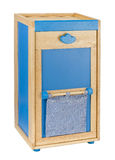Wooden cabinet toys storages. Wooden cabinet or closet in blue color toy for children Royalty Free Stock Photography