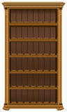 Wooden cabinet for wine bottles. Wine rack forty-eight bottles Royalty Free Stock Photo