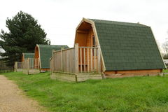 Wooden cabins Stock Images
