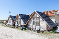 Wooden cabins on a campsite Stock Photography