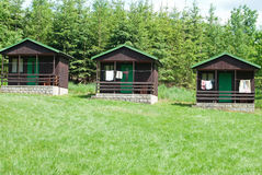 Wooden cabins Stock Photos