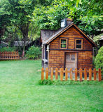 Cabins in the lawn Stock Photo