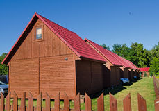 Wooden cabins Stock Photography
