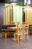 Wooden cafe interior Stock Images
