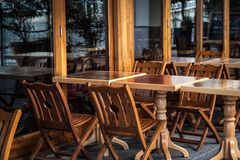 Wooden cafe Royalty Free Stock Photos