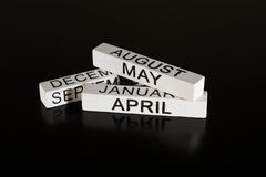 Wooden calendar sticks  Royalty Free Stock Photo