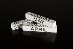 Wooden calendar sticks  Royalty Free Stock Photo