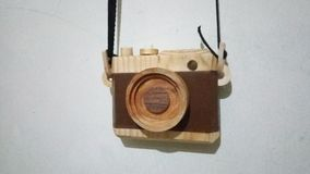 Wooden camera. Wooden toys camera Royalty Free Stock Image