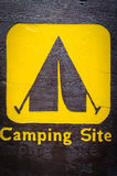 Wooden camp sign Stock Photos