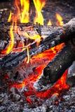 Wooden campfire Stock Photos