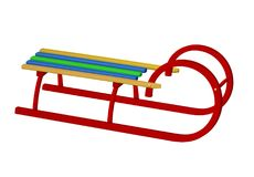 Wooden canadian sledge - colorful Royalty Free Stock Images