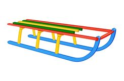 Wooden canadian sledge - colorful Stock Images