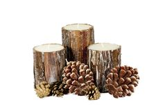 Wooden candle Royalty Free Stock Photos