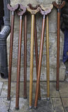 Wooden Canes Stock Photography