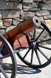 Wooden cannon Royalty Free Stock Photos