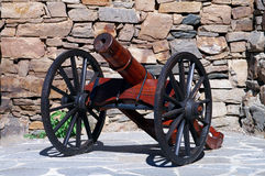 Wooden cannon Stock Photos