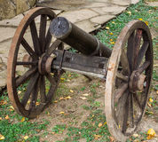Wooden cannon Stock Photography