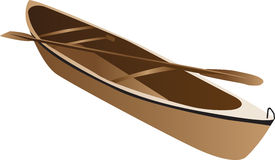 Wooden canoe royalty free illustration