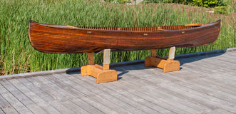 Wooden canoe Royalty Free Stock Images