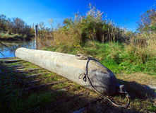 Wooden canoe Stock Images