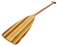 Wooden canoe paddle Stock Photography