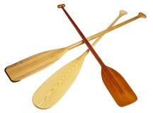Wooden canoe paddles Stock Image