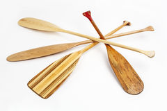 Wooden canoe paddles Stock Photography