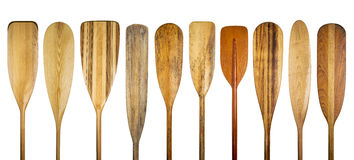 Wooden canoe paddles Stock Photography