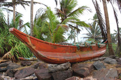 Wooden canoe Royalty Free Stock Photography
