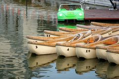 Wooden canoes Royalty Free Stock Photo