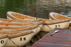 Wooden canoes Stock Image