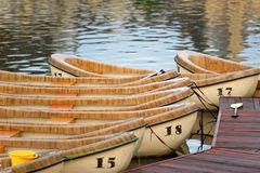 Wooden canoes Stock Photography