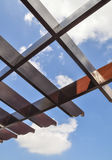 Wooden canopy stock image