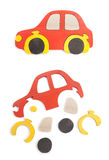 Wooden car puzzle Stock Images