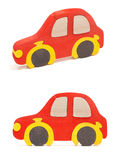 Wooden car puzzle Royalty Free Stock Image